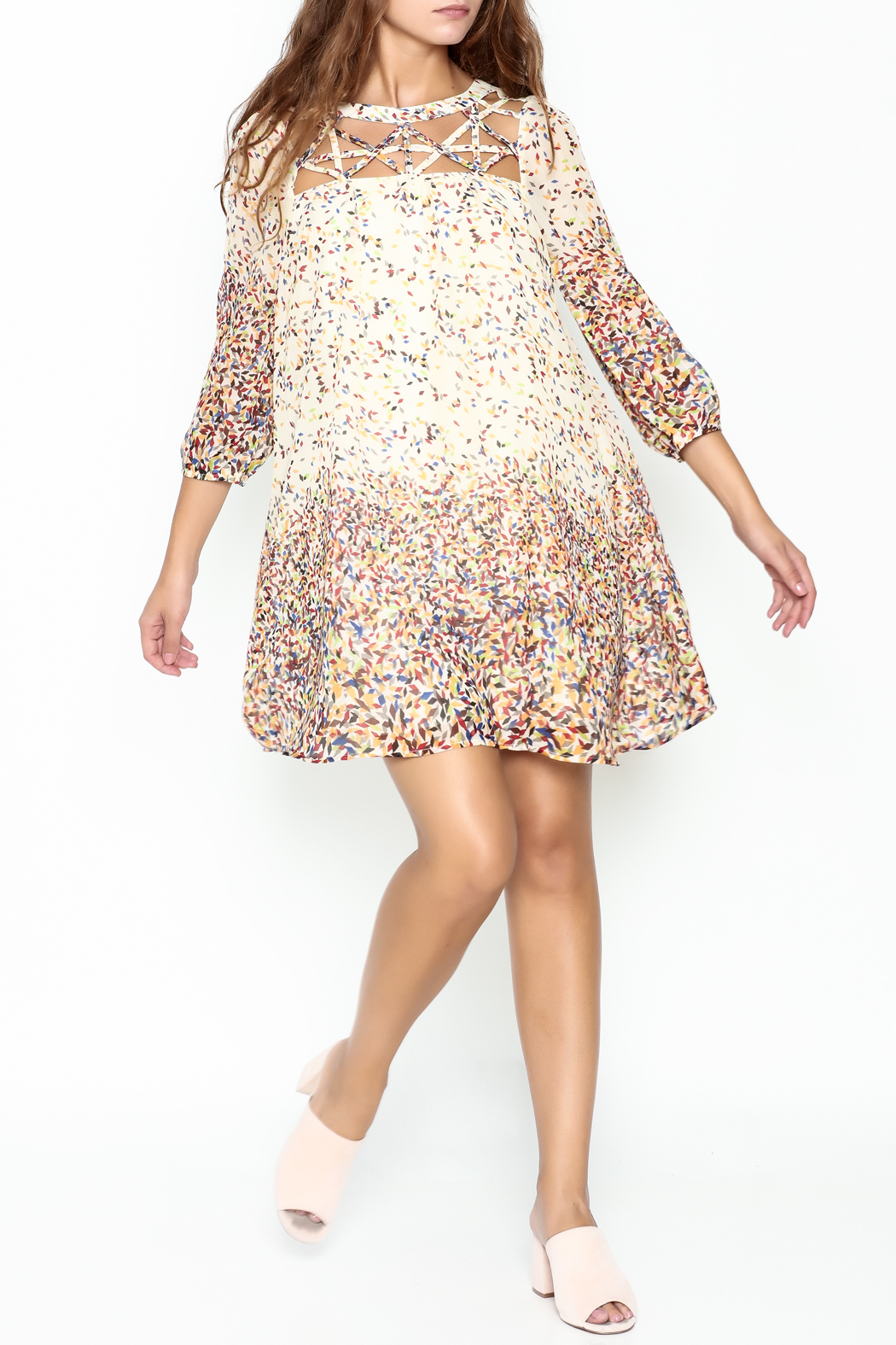 KORI AMERICA Confetti Dress - Side Cropped Image