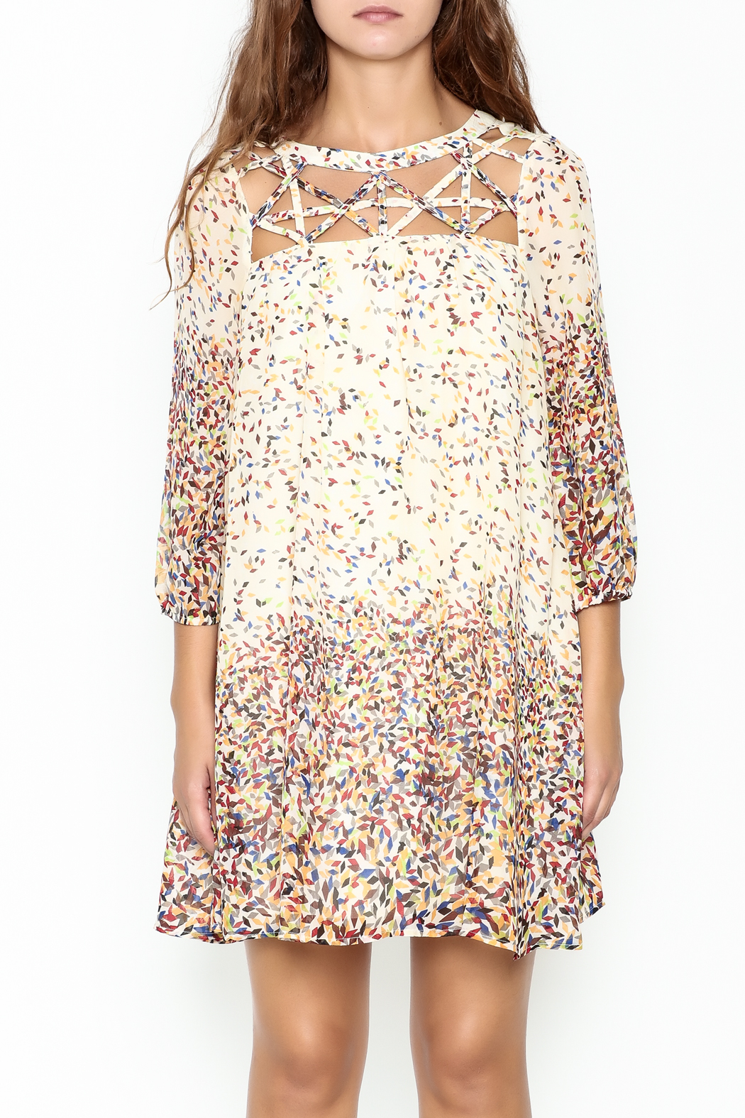 KORI AMERICA Confetti Dress - Front Full Image