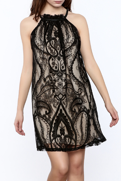 Shoptiques Product: Lace Overlay Mini Dress