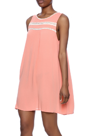 KORI AMERICA Lace Trim Dress - Product Mini Image