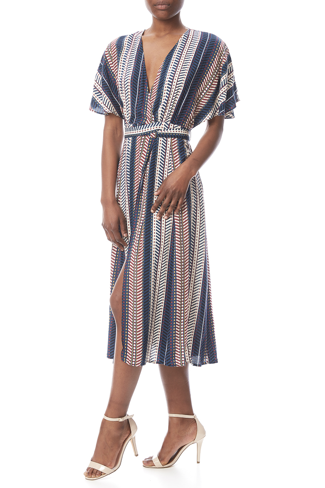 3d38a3f82a2d KORI AMERICA Striped Midi Wrap Dress from Phoenix by Clothes Minded ...