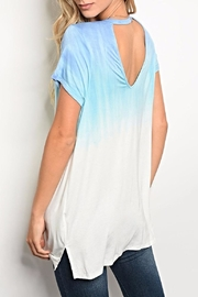 Kori Blue Ombre Tee - Front full body