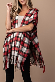 Victorian Capelet, Cape, Cloak, Shawl, Muff Frayed Plaid Poncho $34.99 AT vintagedancer.com