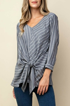 Kori Striped Tie-Front Blouse - Product List Image