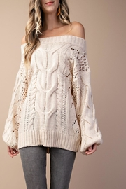 KORI AMERICA Cable Knit Sweater - Product Mini Image