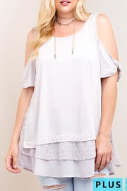 KORI AMERICA Cold Shoulder Chiffon - Product Mini Image
