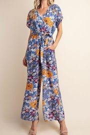 KORI AMERICA Flower Print Jumpsuit - Product Mini Image