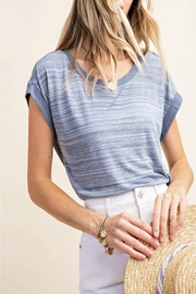 KORI AMERICA Heather Button-Detail Top - Front cropped