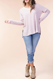 KORI AMERICA Lace Hoody Top - Product Mini Image