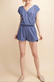 KORI AMERICA Lace Lined Romper - Front cropped