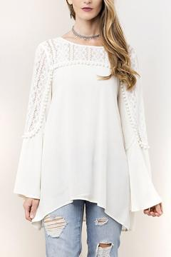Shoptiques Product: Lace Pom Pom Tunic