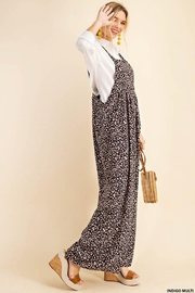 KORI AMERICA Leopard Print Soft Jumpsuit Overalls Dungarees - Side cropped