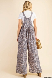KORI AMERICA Leopard Print Soft Jumpsuit Overalls Dungarees - Other