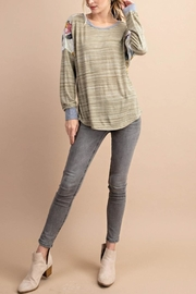 KORI AMERICA Mixed Knit Top - Front cropped