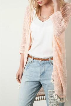 Shoptiques Product: Peach Cardigan Sweater