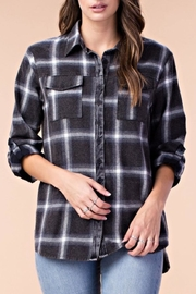 KORI AMERICA Plaid Button-Down Top - Product Mini Image