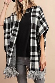 KORI AMERICA Plaid Sweater Cape - Product Mini Image