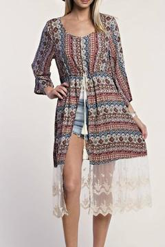 Shoptiques Product: Printed Lace Duster
