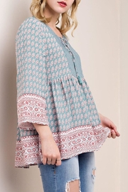KORI AMERICA Printed Peasant Blouse - Product Mini Image