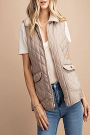 KORI AMERICA Quilted/fur Reversible Vest - Product Mini Image