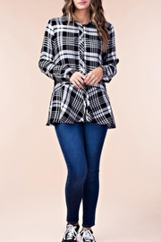 KORI AMERICA Ruffle Plaid Top - Product Mini Image