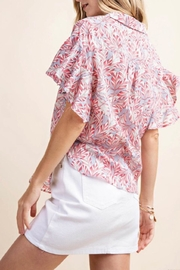 KORI AMERICA Ruffle Sleeve Top - Other