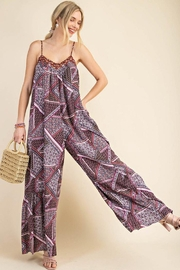 KORI AMERICA Scarf Print Oversized Maxi Jumpsuit - Front cropped