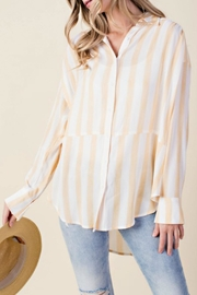 KORI AMERICA Striped Button-Down Top - Front cropped