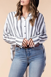 KORI AMERICA Striped Button-Down Top - Product Mini Image