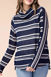 KORI AMERICA Striped Knit Top - Front cropped