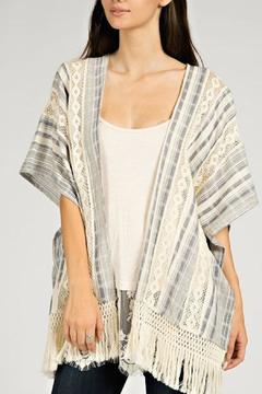 Shoptiques Product: Striped Lace Cardigan