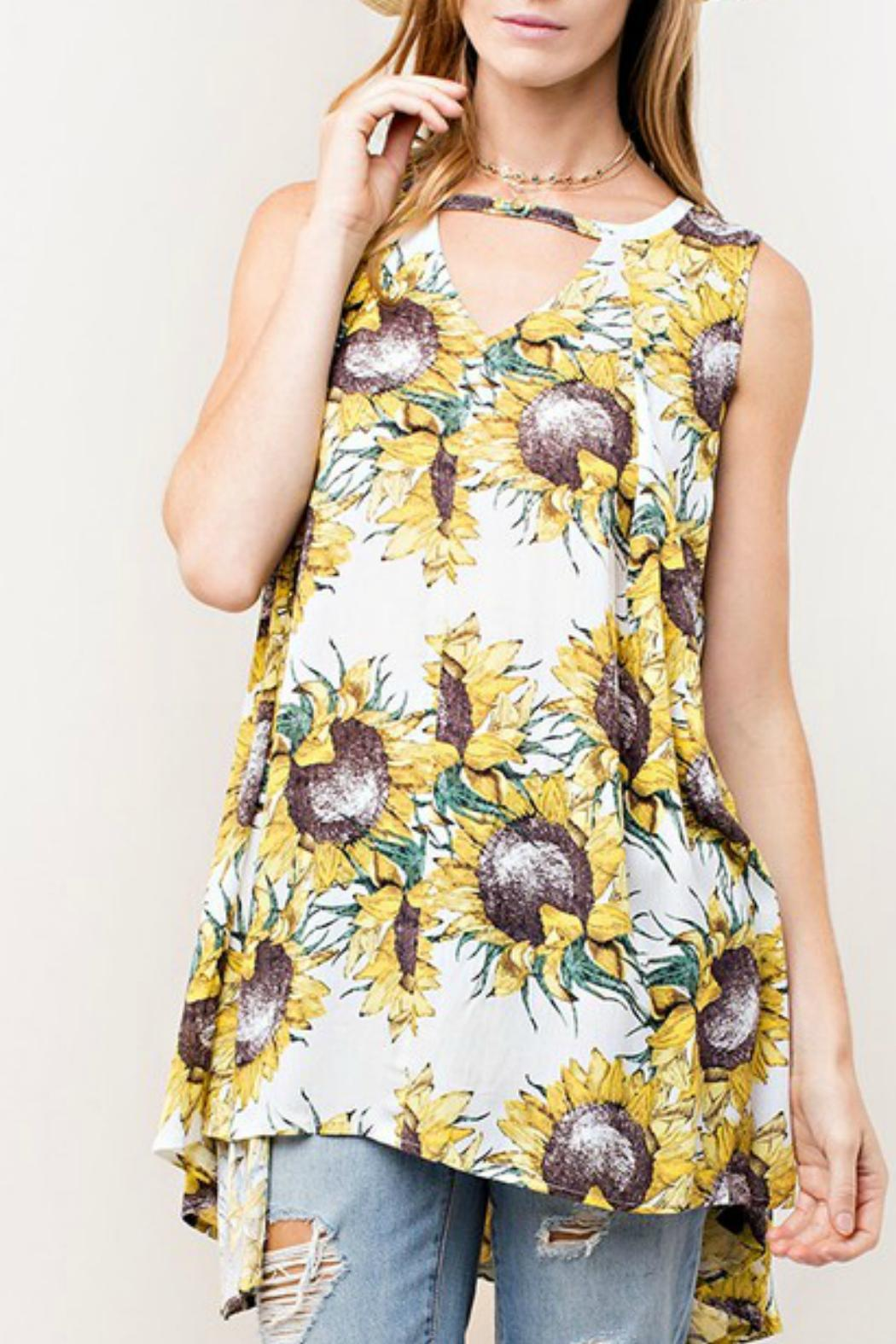 KORI AMERICA Sunflower Swing Tunic - Main Image