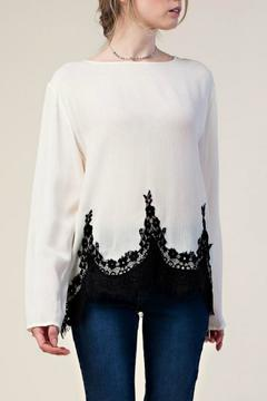 Shoptiques Product: Top With Lace