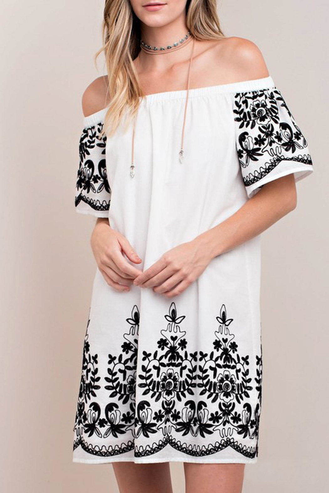 KORI AMERICA White Embroidered Dress - Main Image