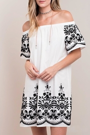 KORI AMERICA White Embroidered Dress - Front cropped