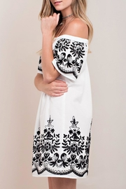 KORI AMERICA White Embroidered Dress - Front full body