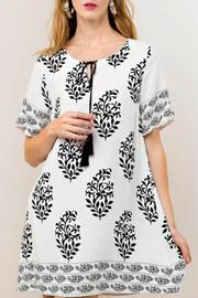 KORI AMERICA Woven Print Dress - Front cropped