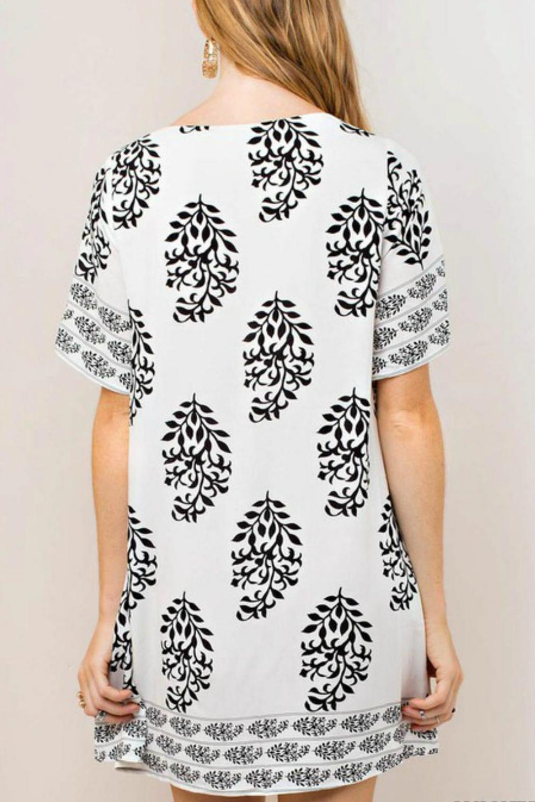 KORI AMERICA Woven Print Dress - Front Full Image