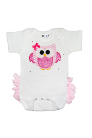Kota couture Owl Ruffle Onesie - Front cropped
