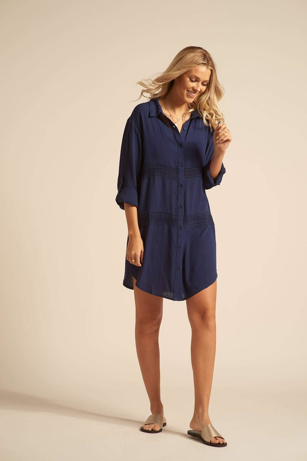 Koy Resort Button Up Coverup - Main Image