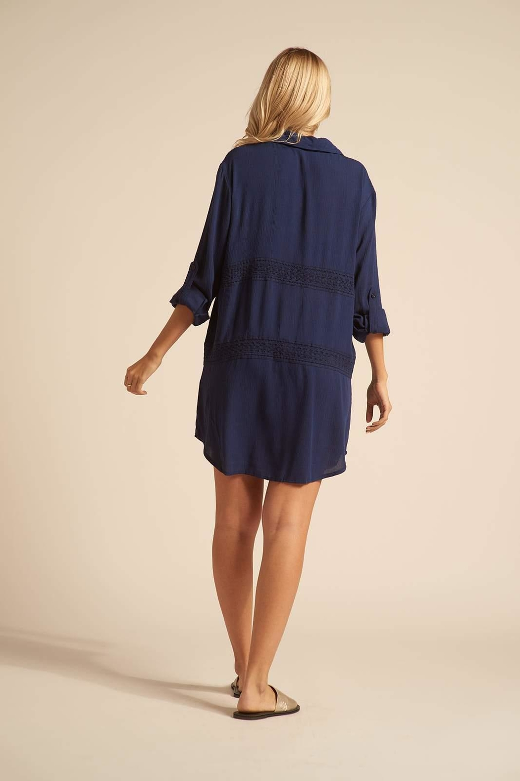 Koy Resort Button Up Coverup - Front Full Image