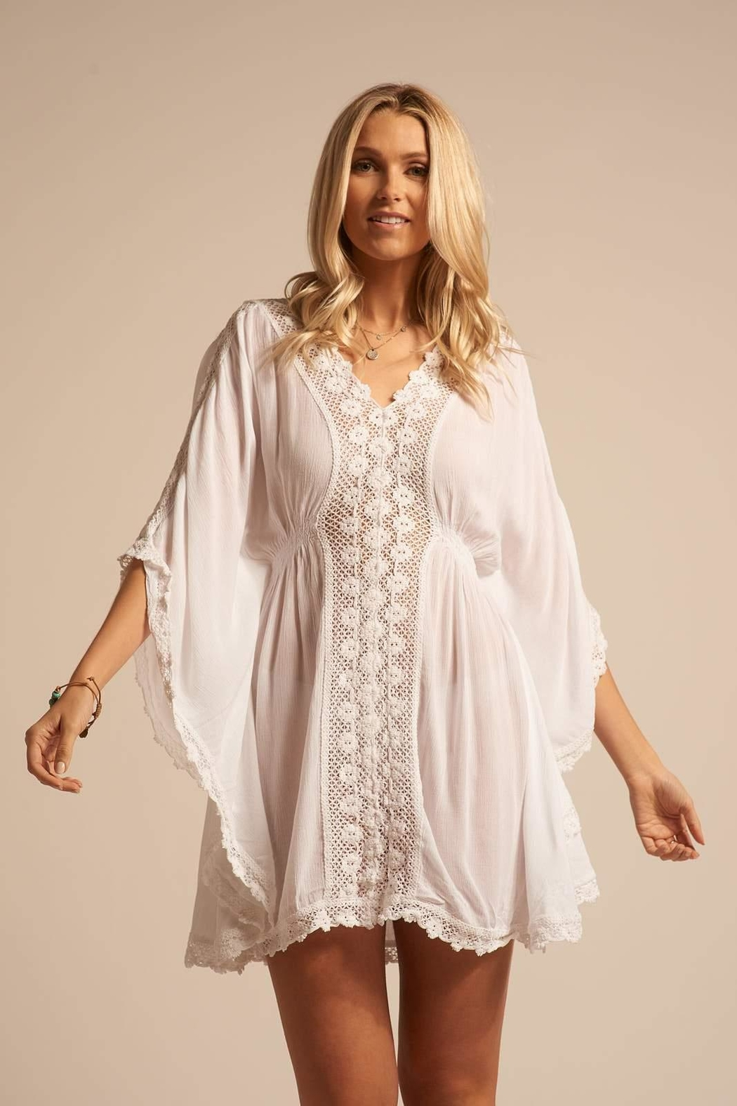 Koy Resort Miami Coverup Kaftan - Front Cropped Image