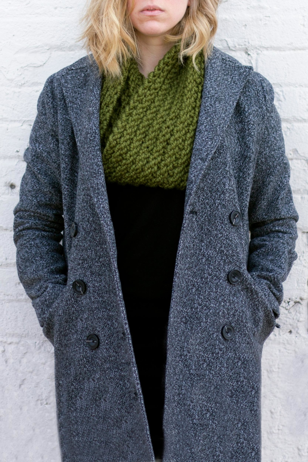 KP Studio Moss Cowl Scarf - Front Cropped Image
