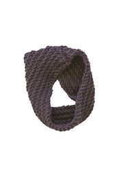 KP Studio Taupe Cowl Scarf - Front full body
