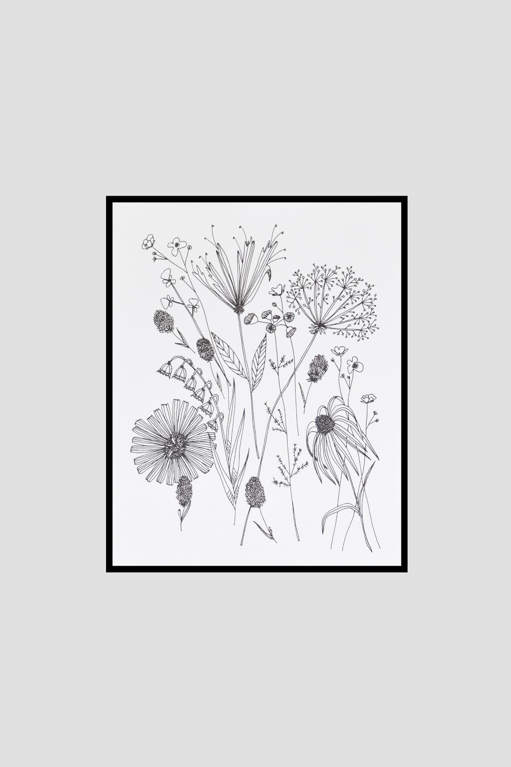 KP Studio Wildflower Decor Print - Side Cropped Image