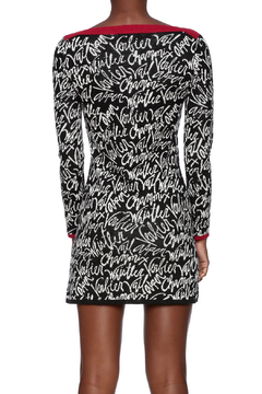 Shoptiques Product: Graphic Sweater Dress