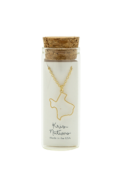 Kris Nations Gold Texas Outline Necklace - Alternate List Image