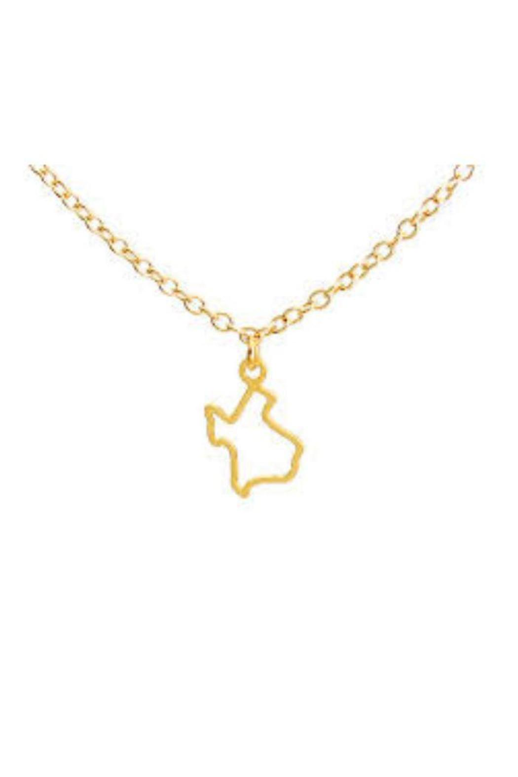 Kris nations tiny texas necklace from dallas by gemma collection kris nations tiny texas necklace front cropped image mozeypictures Images