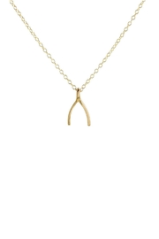 Kris Nations Wishbone Charm Necklace - Front cropped