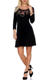 Krista Lee Black Emb Dress - Product Mini Image